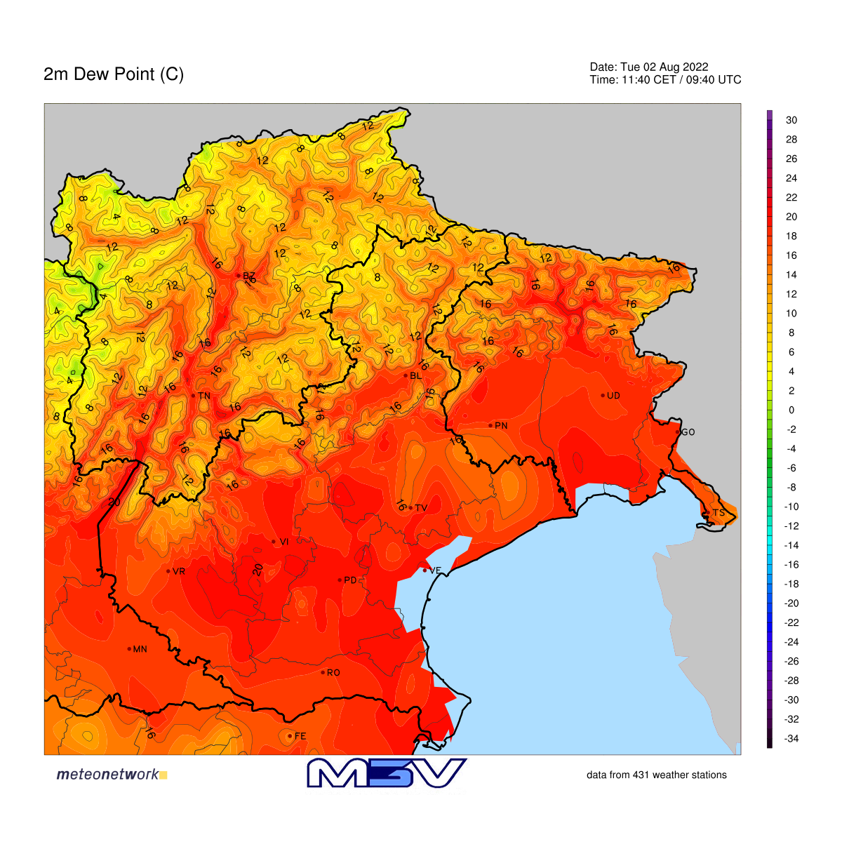 Dew Point Veneto