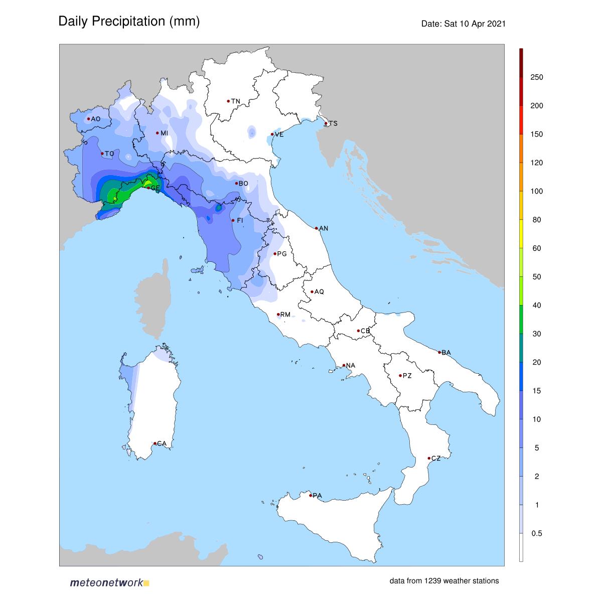 Dati Meteo 2021-04-10 prec_italia