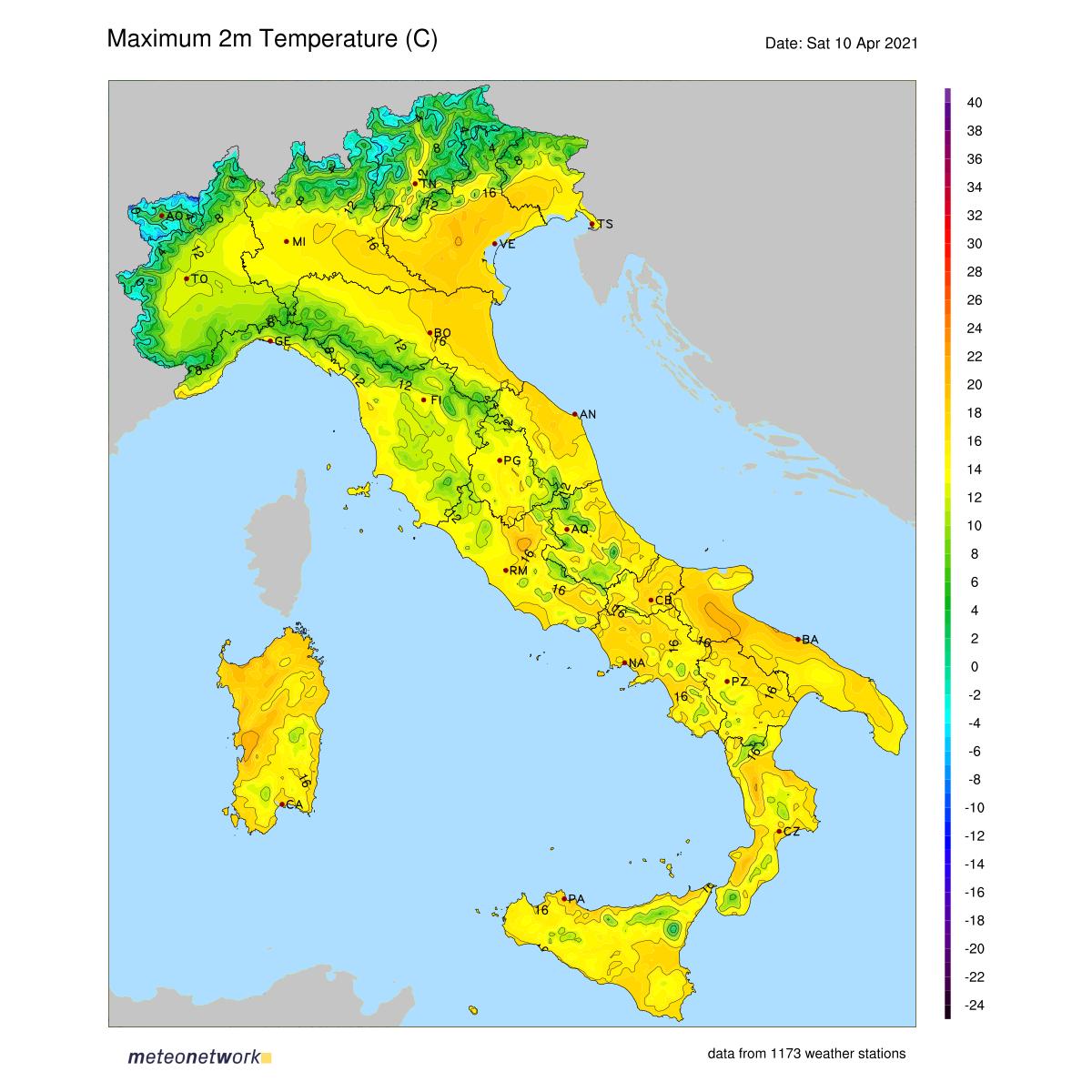 Dati Meteo 2021-04-10 temp_max_italia