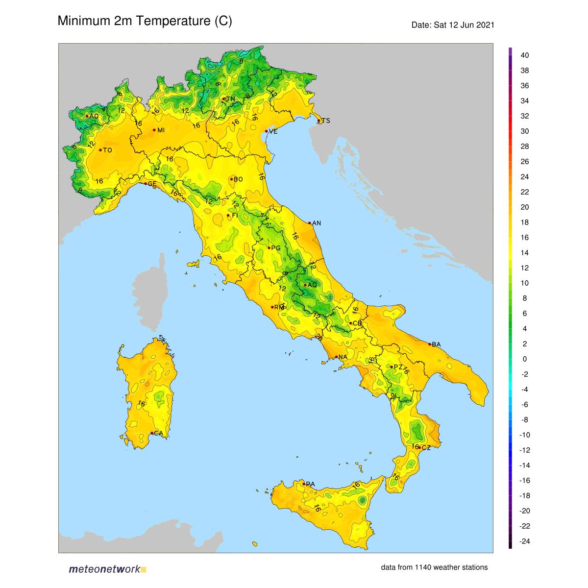 Dati Meteo 2021-06-12 temp_min_italia